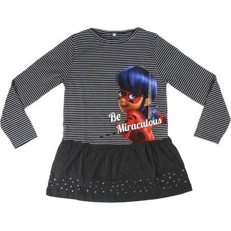 Katicabogár csíkos-grafit ruha