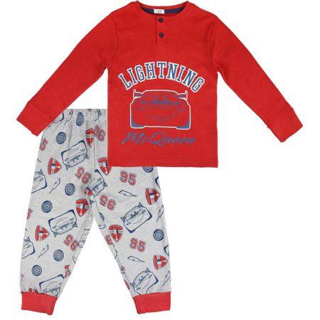 Villám McQueen piros-szürke pizsama