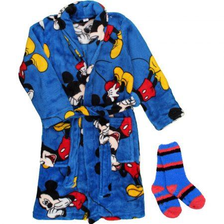Mickey köntös-zokni szett
