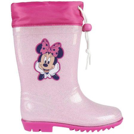 Minnie csillámos rózsaszín gumicsizma