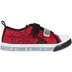 Pókember villogó vászoncipő