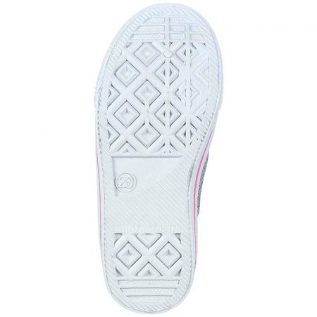 Minnie ezüst vászoncipő