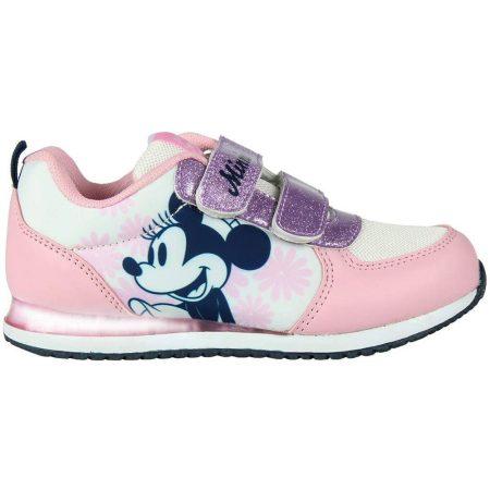 Minnie virágos villogó sportcipő