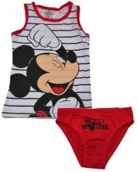 Mickey piros-fehér fehérnemű szett