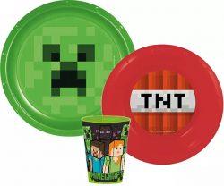 Minecraft étkészlet, műanyag szett