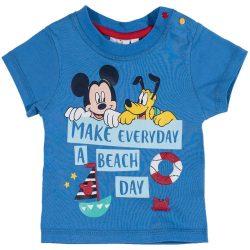 Mickey és Pluto középkék póló