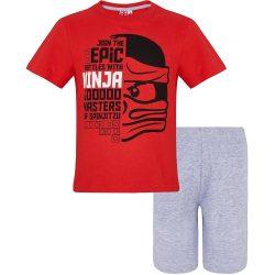 Lego Ninjago piros-szürke pizsama