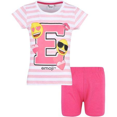 Emoji csíkos-pink pizsama