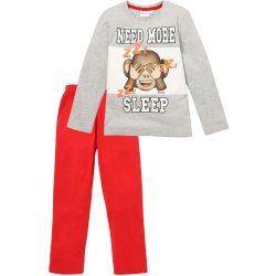 Emoji need more sleep szürke-piros pizsama