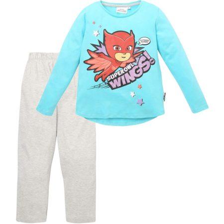 Superowl Wings türkiz-szürke pizsama