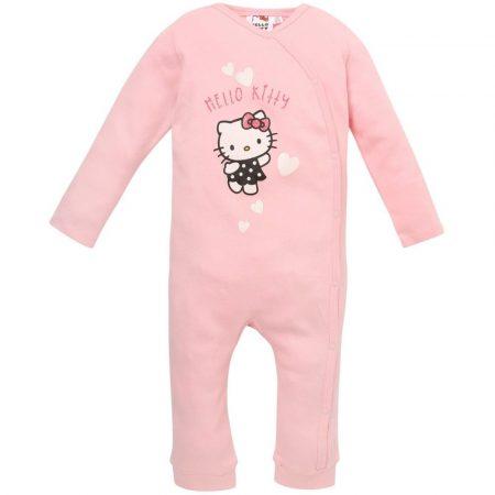 Hello Kitty szíves rózsaszín rugdalózó