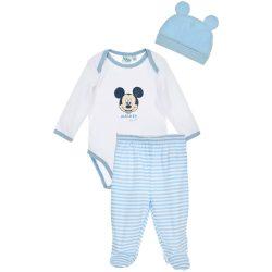 Mickey fehér-kékcsíkos szett