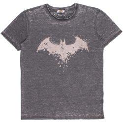Batman férfi szürke batikolt póló
