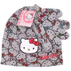 Hello Kitty mintás szürke sapka
