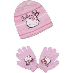 Hello Kitty rózsaszín sapka szett