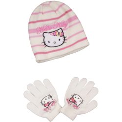 Hello Kitty törtfehér sapka szett
