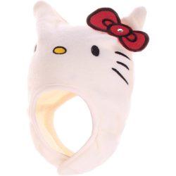 Hello Kitty törtfehér polár sapka