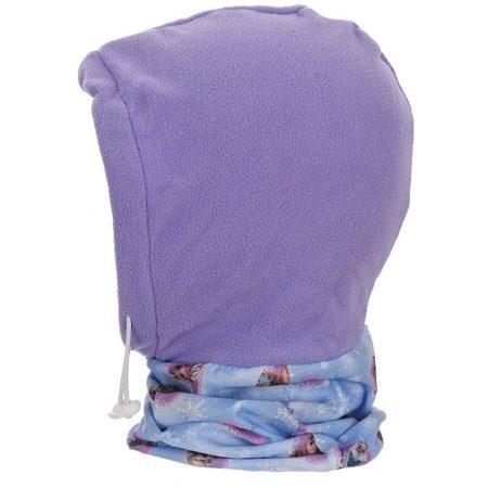 Jégvarázs lila polár sálas sapka