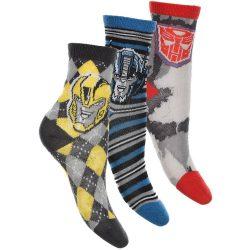 Transformers kárókockás-csíkos-szürke zokni szett