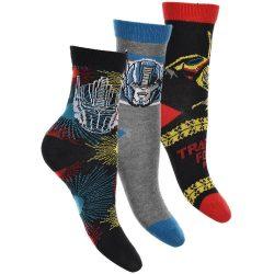 Transformers mintás-szürke-fekete zokni szett