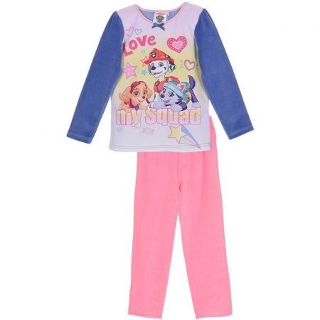 Mancs őrjárat lila-rózsaszín plüss pizsama