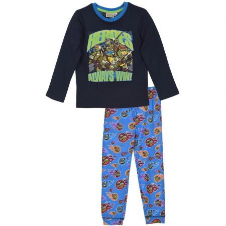 Heroes always win! teknőcös kék pizsama