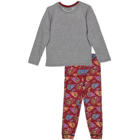 Heroes always win! teknőcös szürke-bordó pizsama