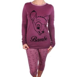 Bambi női szilva pizsama
