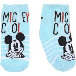 Mickey világoskék zokni
