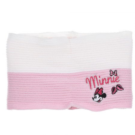 Minnie rózsaszín-fehér csősál