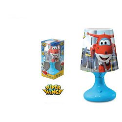 Super Wings kék LED lámpa