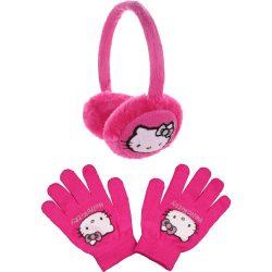 Hello Kitty fukszia állítható fülvédő szett
