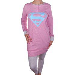 Supergirl női rózsaszín pizsama