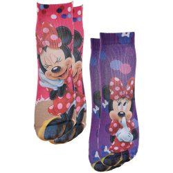 Minnie lila-pink zokni szett