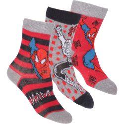 Pókember fekete-piros-szürke zokni szett