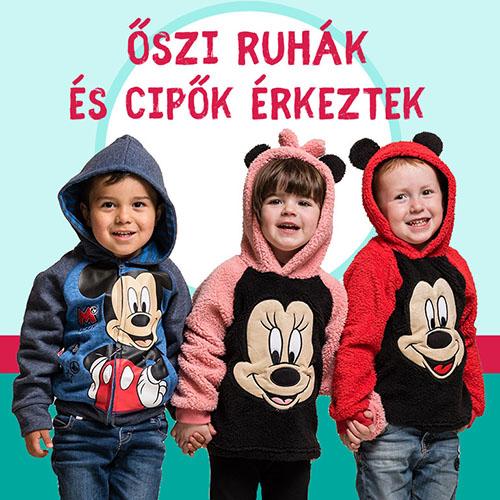 Disney mintás gyerek pizsama akciós áron